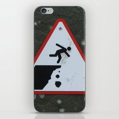 Caution Sign, Cliffs of Mohr iPhone & iPod Skin