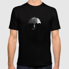 Rain, Rain, Don't Go Away Mens Fitted Tee MEDIUM Black