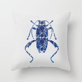 Blue Beetle IV Throw Pillow