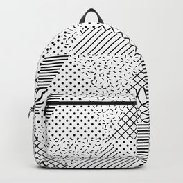 2. Patern in memphis, pop art style Backpack