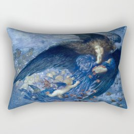 "Edward Robert Hughes (1912) ""Night with her train of stars"" Rectangular Pillow"