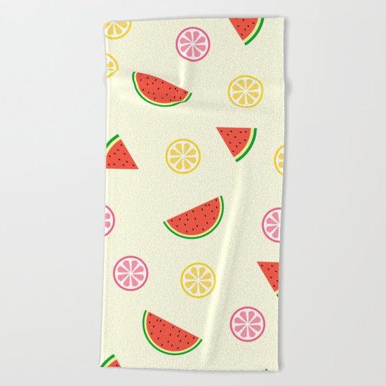 Lemons and watermelons Beach Towel