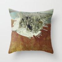 manhattan Throw Pillows featuring manhattan by Luca Stancari