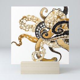 Metallic Octopus Mini Art Print