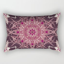 Colors of the Cherry Blossom Mosaic Rectangular Pillow