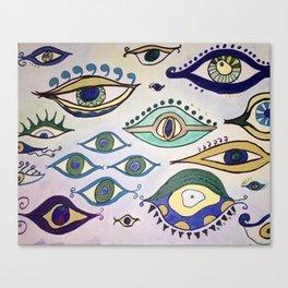 """""""Evil Eyes of Everywhere"""" Canvas Print"""