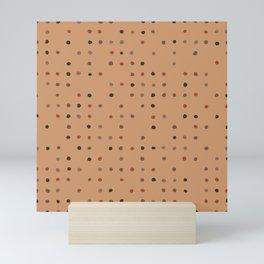 Warm Dots Mini Art Print