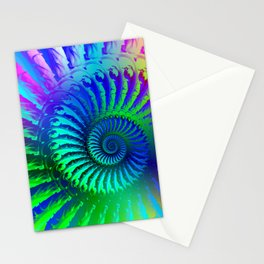 Psychedelic Rainbow Pattern Stationery Cards