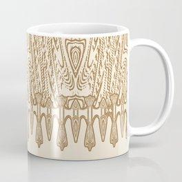 Sepia Macramé Arrowhead Chenille Lace Pattern Coffee Mug
