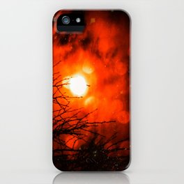Burning Moon iPhone Case