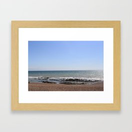 Brighton beach. Framed Art Print