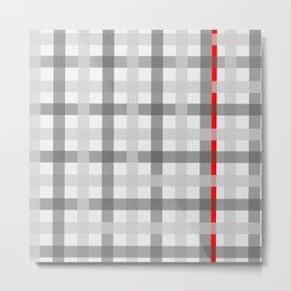 grey red criss sross Metal Print