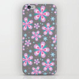 Pink flower pattern iPhone Skin