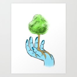 Hand in Hand with Nature Art Print