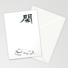 Relaxed by Chinese tea and Zen Stationery Cards