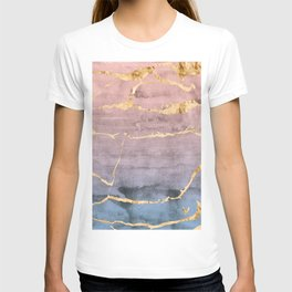 Watercolor Gradient Gold Foil T-shirt