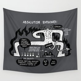 Absolutism Explained Wall Tapestry