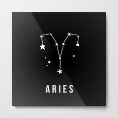 Aries Zodiac Sign Quote Metal Print