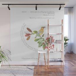 Cedar waxwing charm Wall Mural