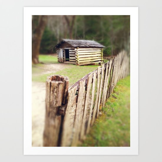Rustic Woodland Spring - A Small Tennessee Cabin Art Print