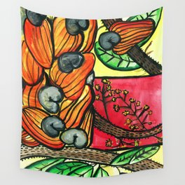 Cashew Apple Painting Wall Tapestry