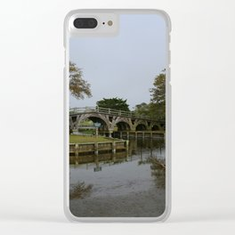 Historic Wooden Bridge At Currituck Light Station Clear iPhone Case