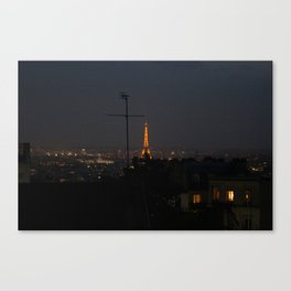 Paris in the night. Canvas Print