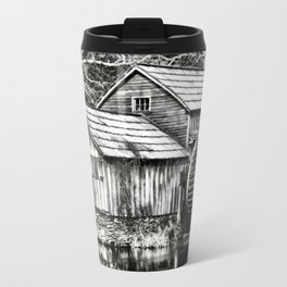 The Old Mill Black and White Travel Mug