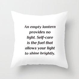 An empty lantern provides no light. Throw Pillow