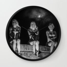 Porcelain Ladies in the Pale Moonlight Wall Clock