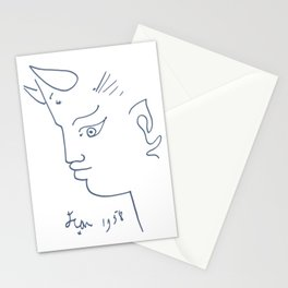 Jean Cocteau Tete de Faune (Head of Fauna), Artwork, Posters, Prints, Tshirts, Men, Women, Kids Stationery Cards
