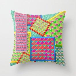 Framed patterns Throw Pillow