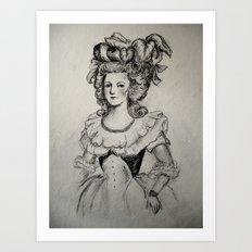 French Sketch II Art Print