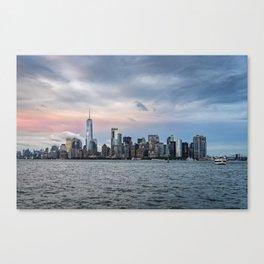 Skyline  of New York City at sunset Canvas Print