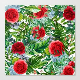 Ruby Roses Collage Canvas Print