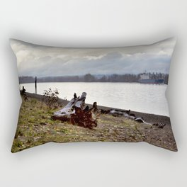 Heading North on the Columbia River Rectangular Pillow