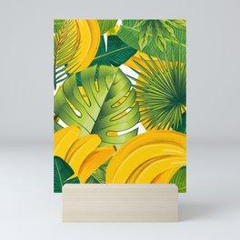 Tropical leaves decor bananas print forest interior palm Mini Art Print