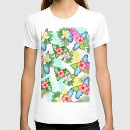Floral withe T-shirt