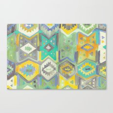 Kilim Me Softly in Turquoise Canvas Print