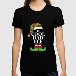 Christmas Elf Family Matching - The Cool Dad Elf T-shirt