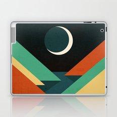 Quiet stream under crescent moon Laptop & iPad Skin