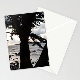 Carmel Beach through Trees Stationery Cards