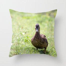 The walking Duck Throw Pillow
