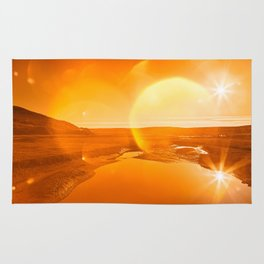 Twin Suns of Point Reyes - Gold Bokeh Bliss Rug