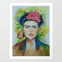 Frida kahlo. Handmade Canvas painting. An inspirational Soul Art Print