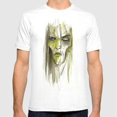 Green Witch SMALL White Mens Fitted Tee