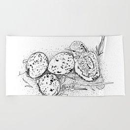 American Oystercatcher nest Beach Towel