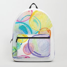 Rainbow Pastel Bubbles Floating Backpack