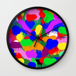 Paint Splodge Colour Abstract Wall Clock