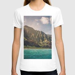 Na Pali Coast Kauai Hawaii Printable Wall Art   Tropical Beach Nature Ocean Coastal Travel Photography Print T-shirt